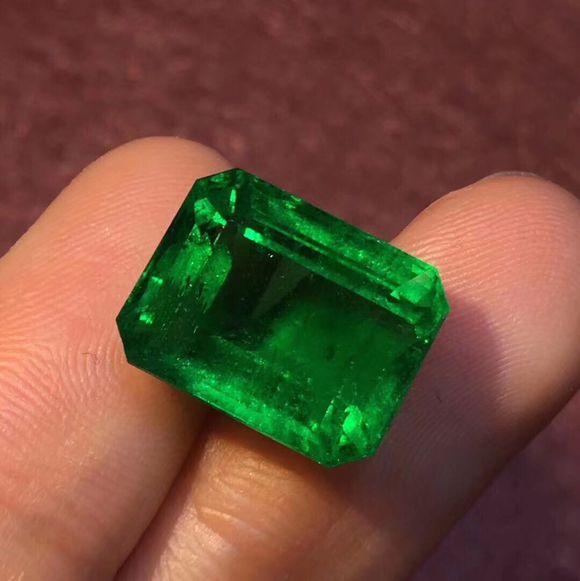 仿天然祖母绿裸石 方形祖母绿 净度高 性价比高 小价位