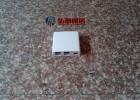 86型2口光纤桌面盒安装示意图