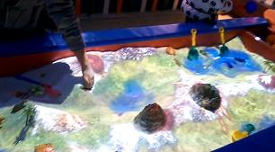 沙池投影互动、儿童乐园