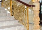 常州浮雕铝艺楼梯扶栏订制