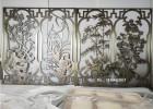 青古铜铝板双面浮雕屏风隔断  厂家定制铝艺屏风花格