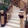 新古典红古铜别墅楼梯设计效果