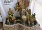 千乘果园艺天然石假山何先生、千层石八方来财雕刻字假山喷泉
