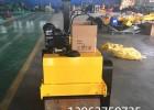 小型柴油压路机双钢轮沟槽震动压实机