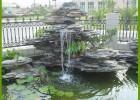 入户花园鱼池假山造景何先生、阳台假山摆件何先生
