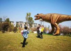 甘肃商场大型仿真恐龙布展 会动会叫的恐龙栩栩如生