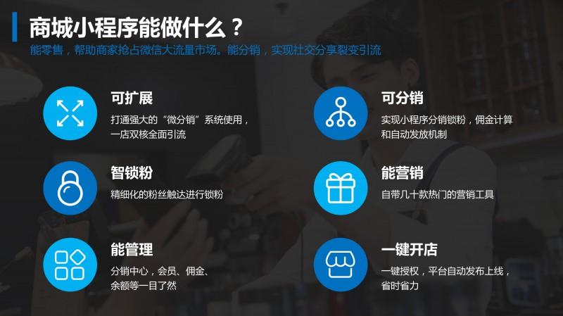 商城小程序微商城分销代理订货商家入驻拼团积分公众号微信开发