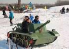 户外游乐设施雪地坦克车 外形酷炫冰上坦克车厂家