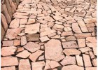 供應紅色石材外墻磚粉砂巖蘑菇石外墻磚