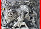 石雕十八罗汉浮雕 石雕浮雕厂家批发