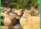 天然黄蜡石 校园纪念石刻字石  自然招牌石 园林景观石
