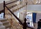 新别墅铝板雕刻楼梯耐用装饰楼梯护栏