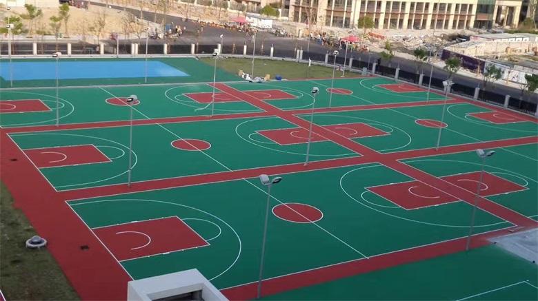 篮球场塑胶球场图片7044