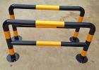 厂家直销 不锈钢管防撞柱 黄拼黑防撞柱耐用结实定制批发