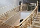 高端大气的铝板雕刻镂空镀金楼梯护栏