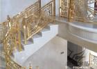 K金铝艺雕刻楼梯护栏厂家订制