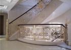豪华别墅专用土豪金铝艺雕花镂空楼梯护栏