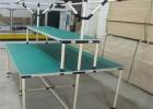 全新防靜電精益管工作臺|柔性線棒管組裝式可移動帶燈工作臺