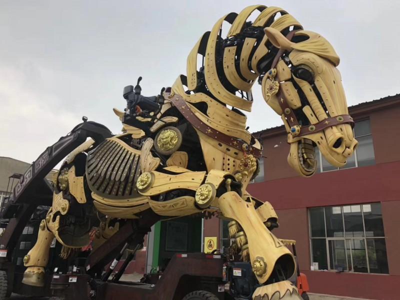 机械会跑的龙马仿生巨型机械大象租赁巡游巨马展供应