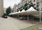 鄂州车棚设计 黄石雨棚材料 咸宁景观张拉膜安装批发