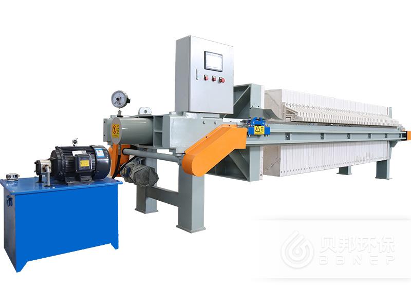 河南贝邦_800型自动保压框式压滤机_工业污水压滤机