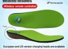 加热USB可充电远程遥控电暖脚鞋垫