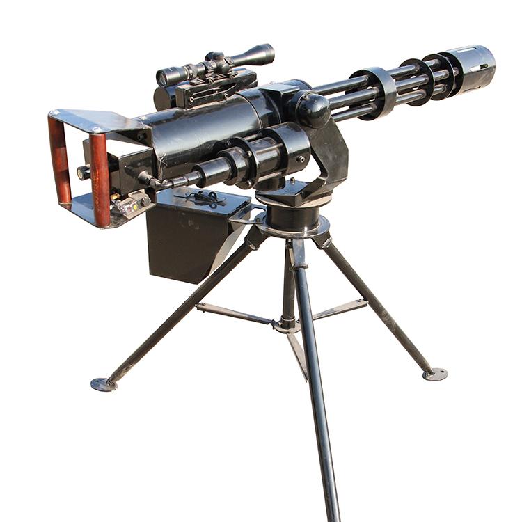 黑色实心橡胶球打靶气炮枪景区游乐场仿真模拟射击场设备