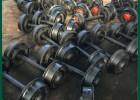 包邮优质矿车轮 高吨位矿车轮对 精品锻打轴 可按图纸定制