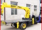 大连工程建筑小型机动三轮起重机价格 自制三轮3吨平板随车吊车