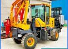 吉林多功能高速公路护栏小四轮打桩机厂家大马力打拔钻一体的机械