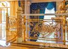 纯铜镀金楼梯扶手  国内知名铜金属制品