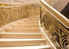 现代雕花镀金铜楼梯艺术扶手跳跃旋律