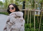 厂家狐狸毛短款大衣模特实拍狐狸毛怎么保养清洗一件可售