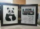 定做熊猫蜀绣摆件 创意公司年会周年庆典办公礼品定制