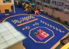 甘洛弹性地胶养老院悬浮拼装地板