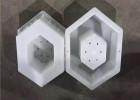 六角护坡砖模具-镶嵌式水泥砌块模板-塑料模盒定做厂