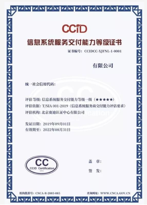 广东省信息系统服务商交付能力评估CCID
