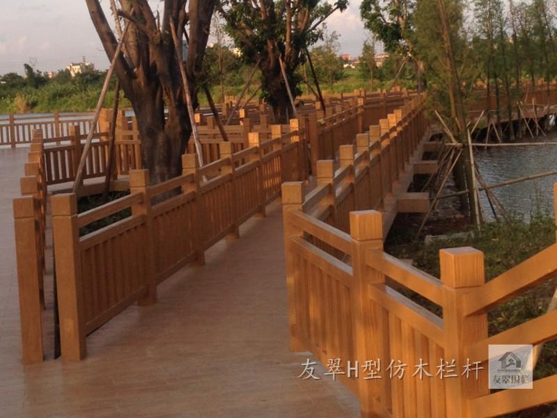 东莞水库堤坝水泥仿木栏杆施工队