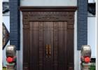 别墅中式门楼农村院墙进户仿古铜门-M2710