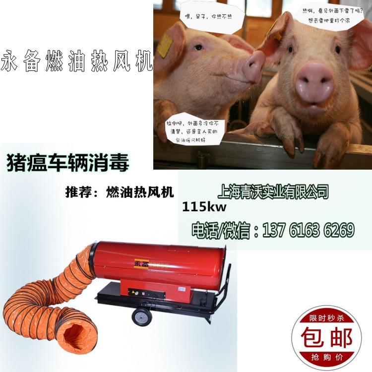 猪瘟车辆消毒永备热风机