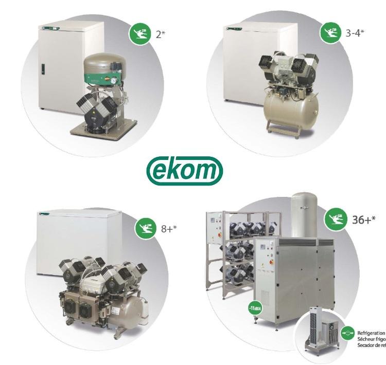 LogoEKOM compressor with logo