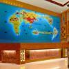 公司前台形像墙背景墙摆设 全球关联贸易网点立体地图屏