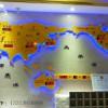 2020新一代酒店前台吧台背景墙装饰 工艺品 立体地图钟