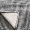 全棉华夫格砂洗面料复合羊羔绒面料盖毯