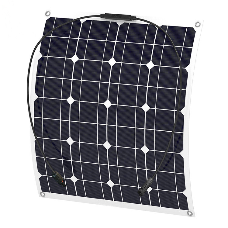 高效单晶太阳能电池板 50W柔性太阳能板