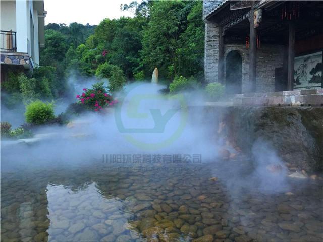 景观造雾,人造雾假山喷雾造景设备