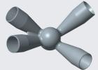管桁架空间钢结构大型铸钢节点
