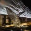 大型不锈钢镂空鲸鱼雕塑定制 商业城市广场户外园林景观铁艺雕塑