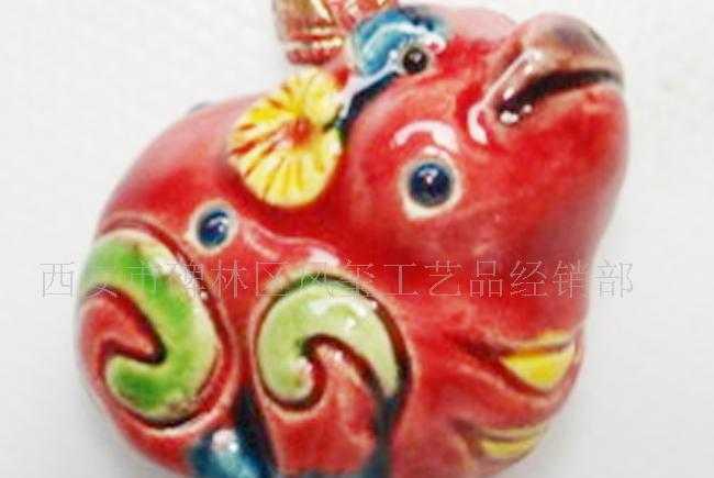 供应交趾陶小挂件,特色彩色陶瓷手机挂件