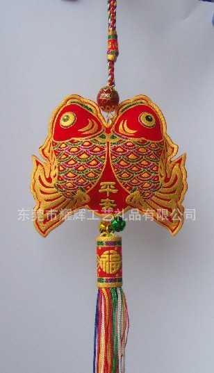 香港时尚开运招福涤纶刺绣锦囊福袋、出入平安春节辟邪吉祥物布袋